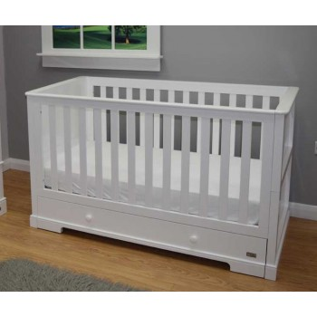BRbaby Oxford Cot Bed - White