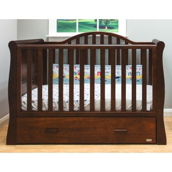 BRbaby Oslo Sleigh Cot Bed - Coco